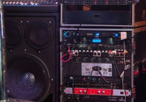a speaker system on stage
