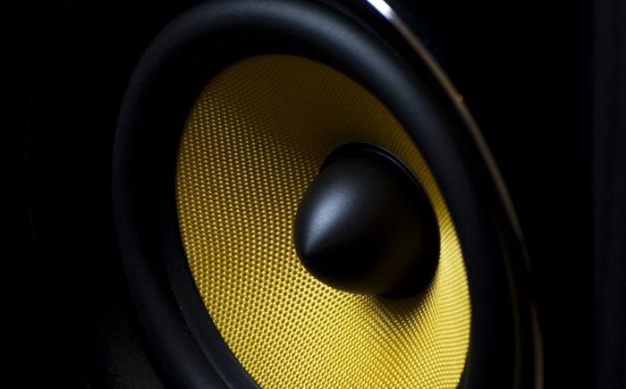 speaker's front side